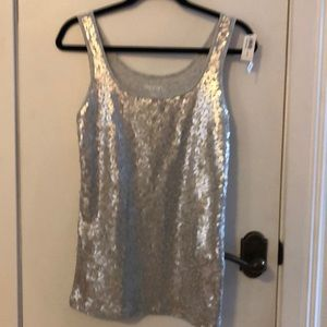 NWT Old Navy silver beaded tank top size Lg